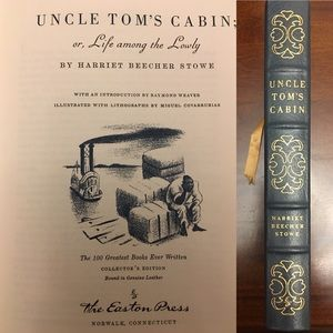 Vintage Leather Uncle Tom's Cabin Harriet B Stowe